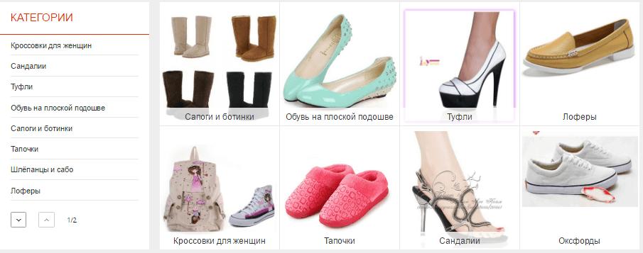Процесс выбора обуви