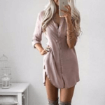 Платье рубашка Алиэкспресс