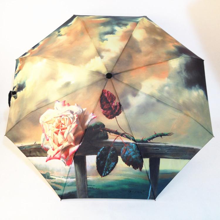 "Зонт с рисунком ""Розовая фантазия"" ~ 1027 руб"