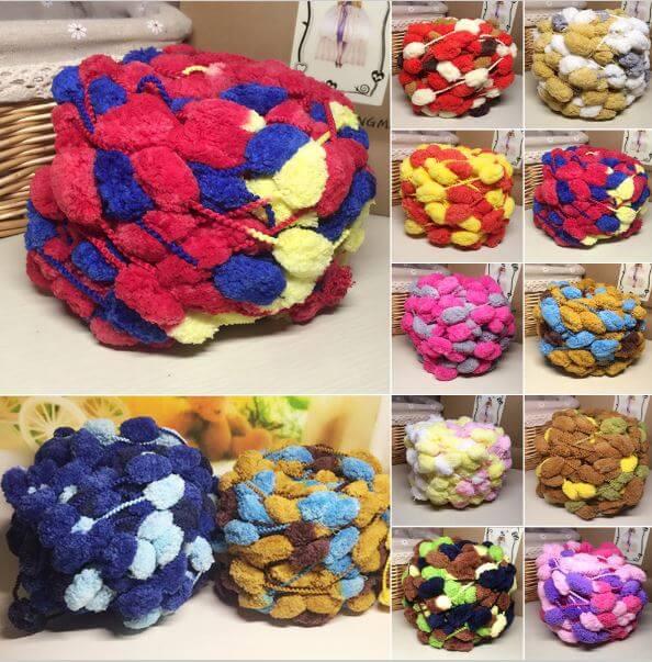 Пряжа с шариками – помпонами ~ 225 руб