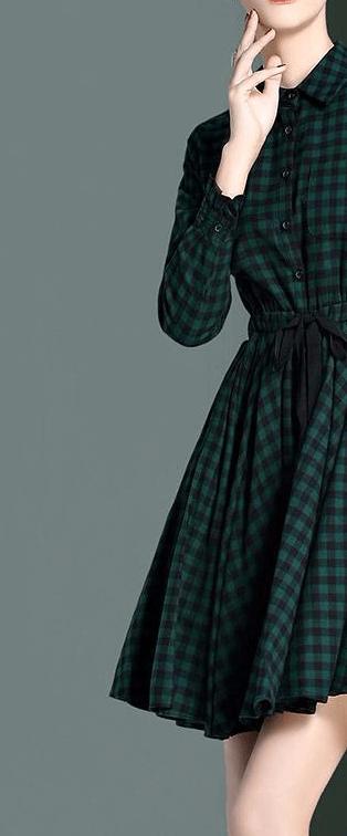 Приталенное платье в клетку ~ за 1886 руб.