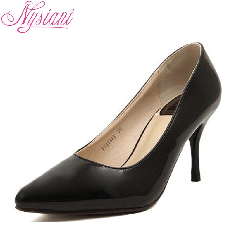 Лакированные туфли с острым носом ~ 1261 руб