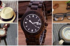 Аксессуары из дерева: деревянные часы