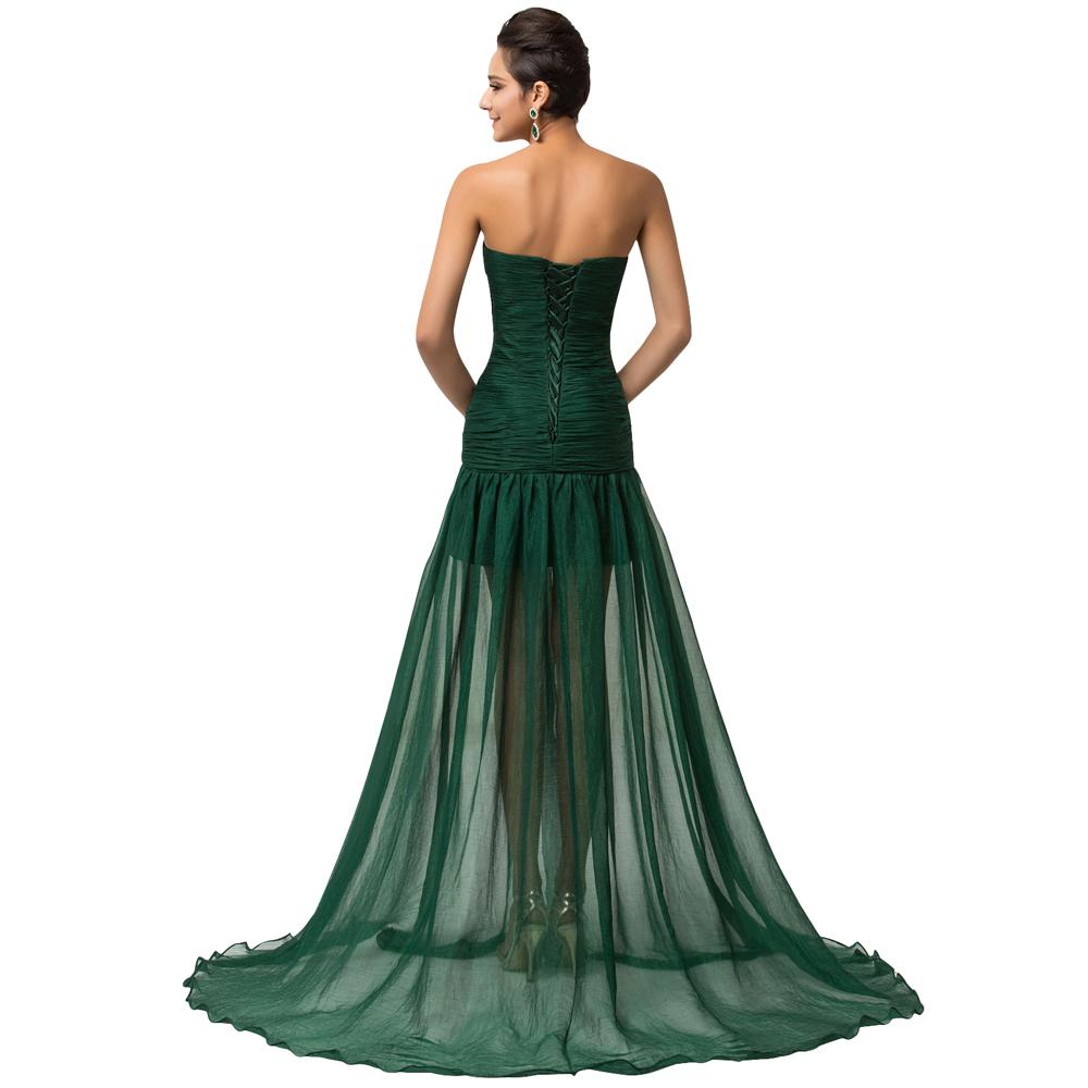 """Вечернее платье с разрезом """"Зелёная фантазия"""" ~ 3200 руб"""