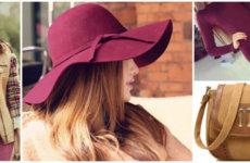 Шляпа бордовая: с чем носить?