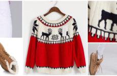 Готовимся к праздникам: свитер с оленями