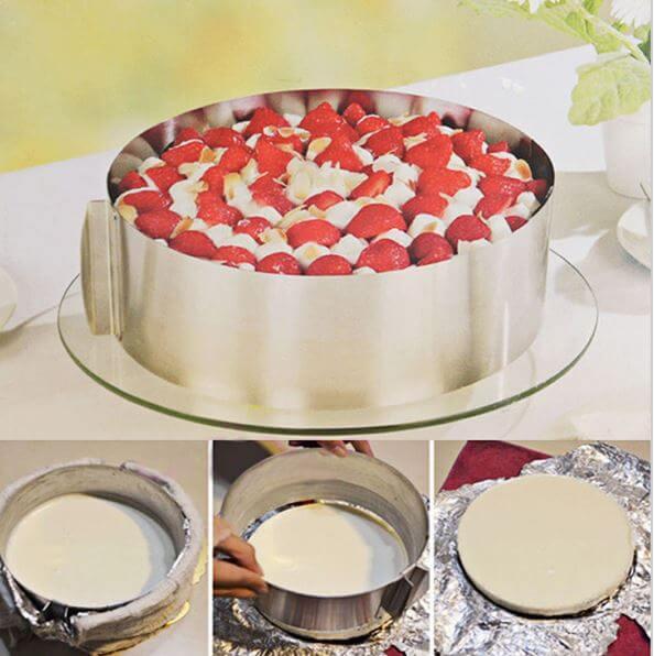 Регулируемая раздвижная форма для торта или кекса ~ 423 руб