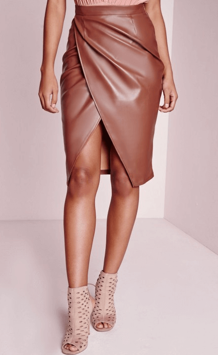 Кожаная юбка-карандаш ~ за 650 руб.