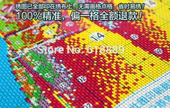Набор для вышивки Зимняя деревня ~ 600 руб