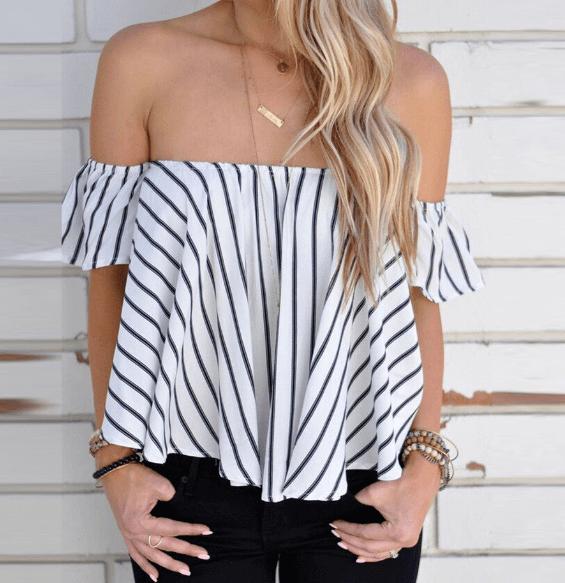 Блуза с открытыми плечами ~ за 456 руб.