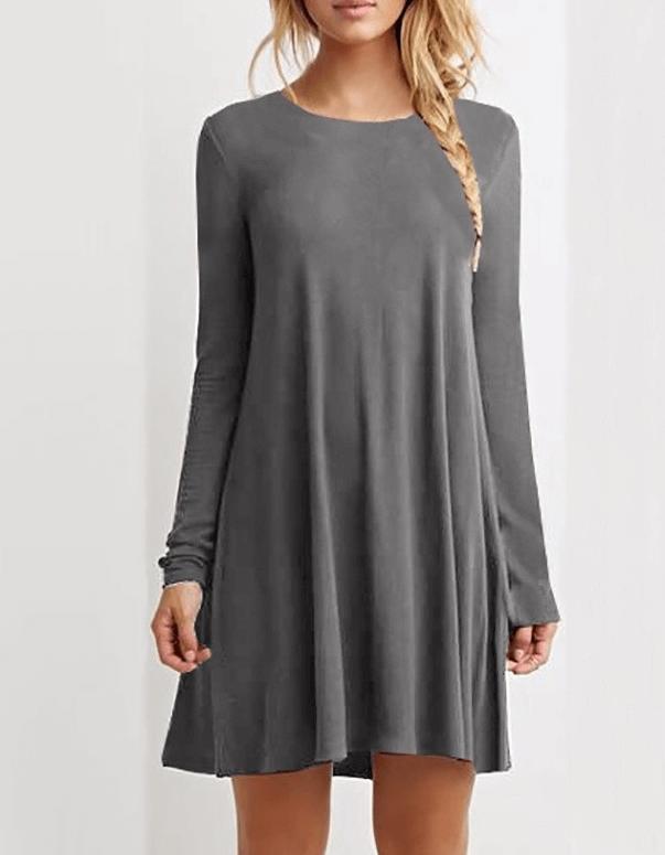 Серое платье ~ за 395 руб.