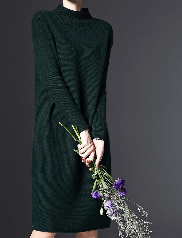 Свободное платье изумрудного цвета ~ за 1508 руб.