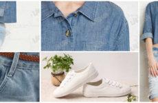 Свобода улиц: короткая джинсовая рубашка