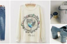 Модный свитер с совой