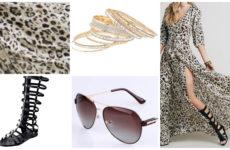 Длинное шифоновое леопардовое платье