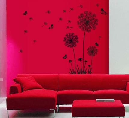 Декоративная наклейка на стену « Одуванчик» ~ 201 руб