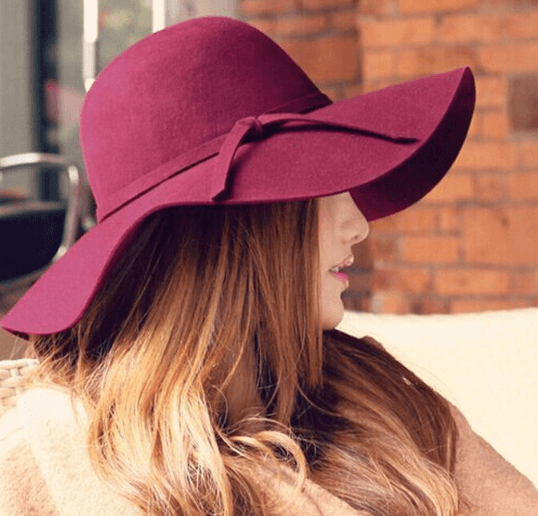 Шляпа бордовая ~ за 419 руб.