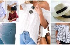 Модные блузы с открытыми плечами