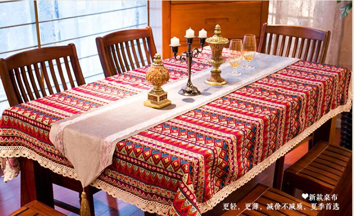 Хлопковая скатерть в стиле бохо-шик ~ 1000 руб