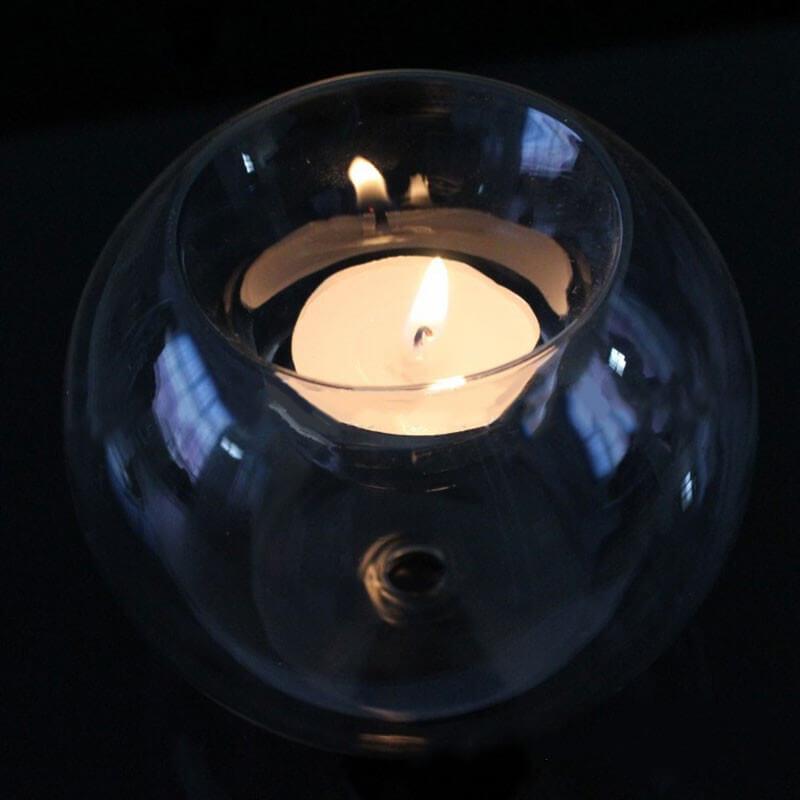 Стеклянный подсвечник «Шар» ~ 180 руб