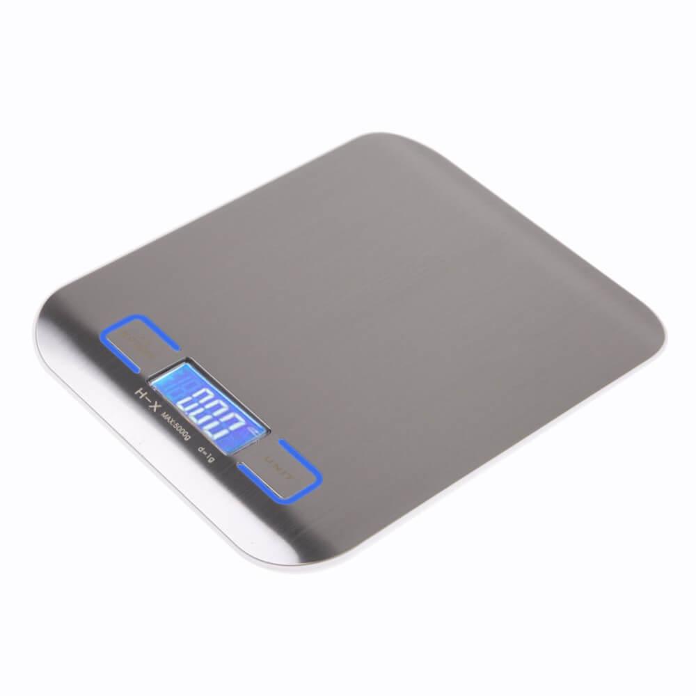 Электронные весы для кухни стального цвета ~ 900 руб
