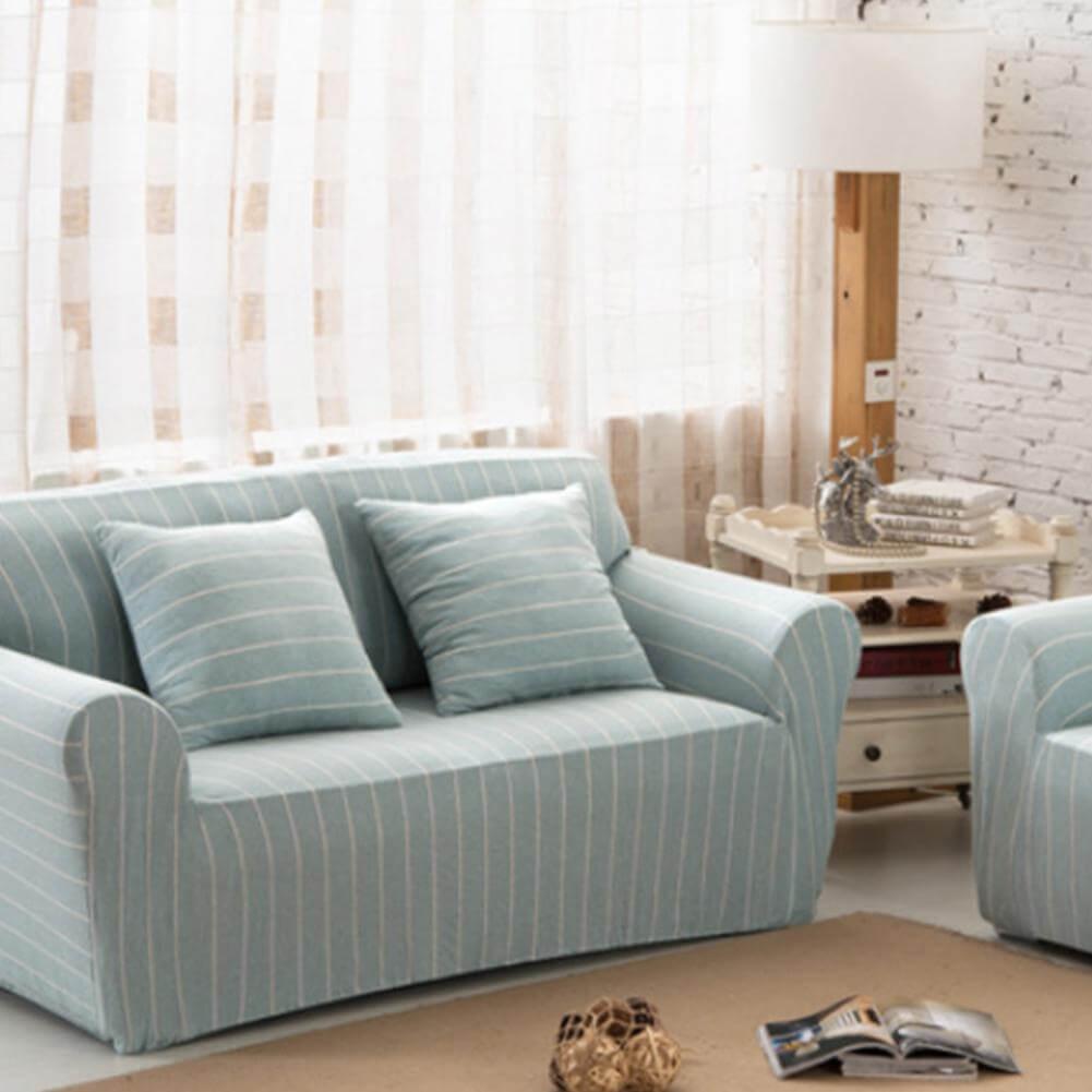 Натяжной чехол на диван в тонкую полоску ~ 6000р руб