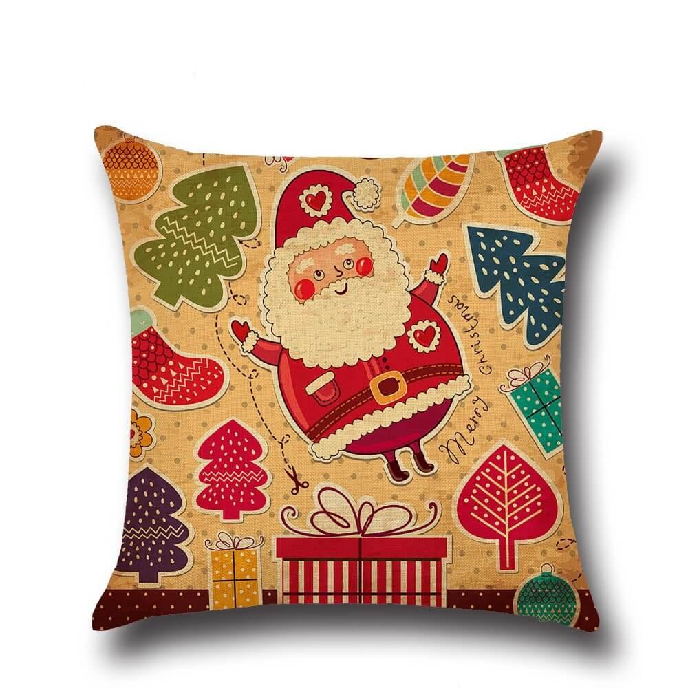 Подушка с принтами Санта Клауса ~ 300 руб