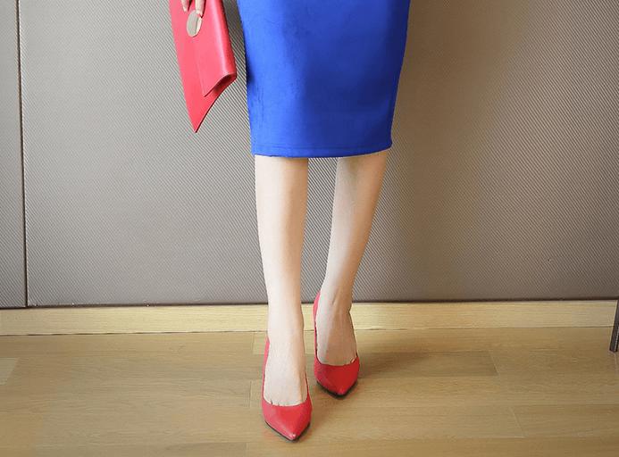 Замшевая юбка-карандаш ~ за 690 руб.