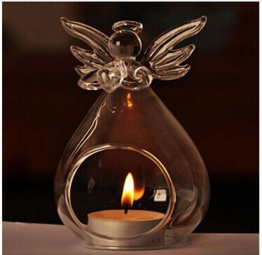 Стеклянный подсвечник «Ангел» ~ 460 руб