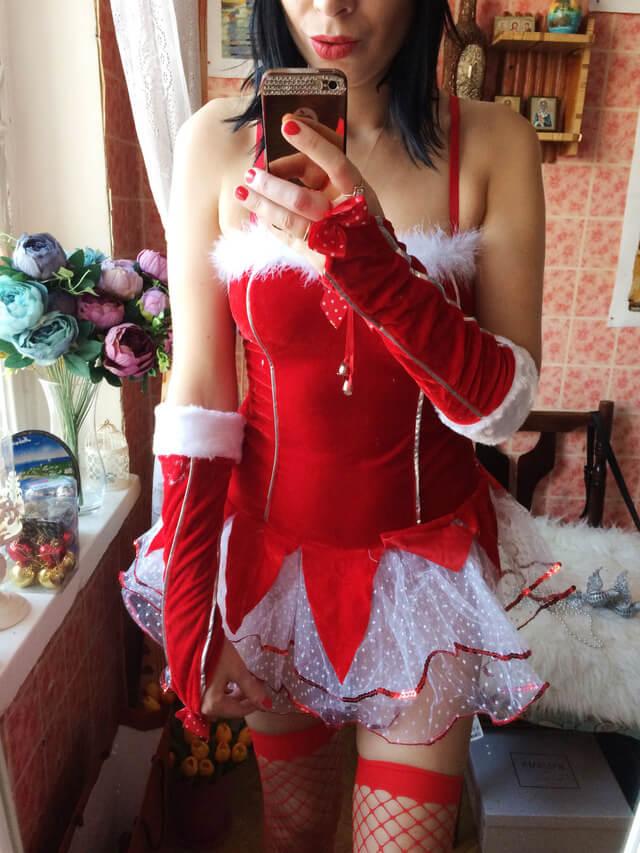 Новогодний костюм снегурочки для взрослых с Aliexpress