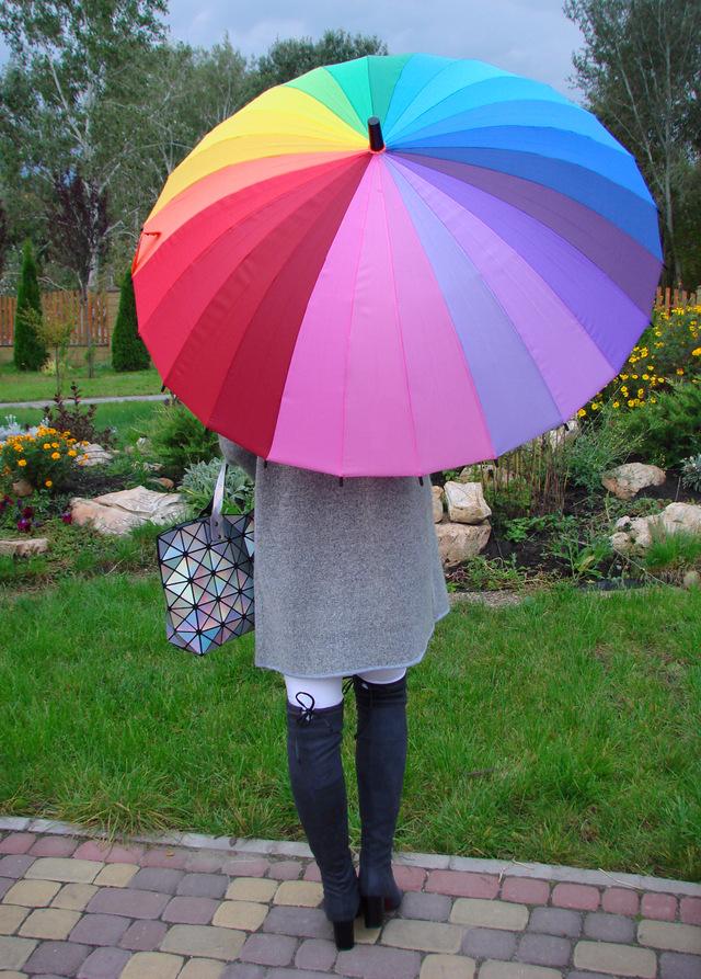 Зонт на 24 спицы с Aliexpress