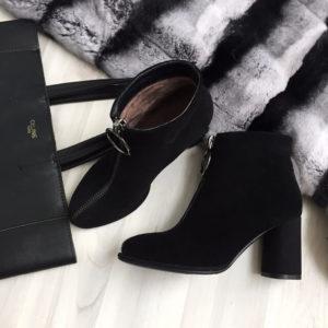 Ботинки зимние женские на aliexpress из натуральной замши за 8500 рублей