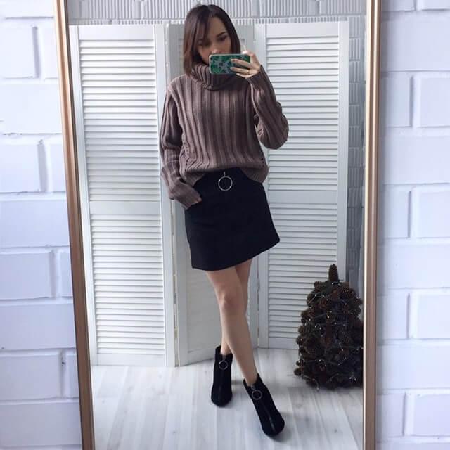 Бежевый свитер с Aliexpress