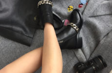 Кожаные ботинки с цепью с Aliexpress за 3300 рублей