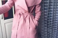 Розовое пальто с Aliexpress за 1900 рублей
