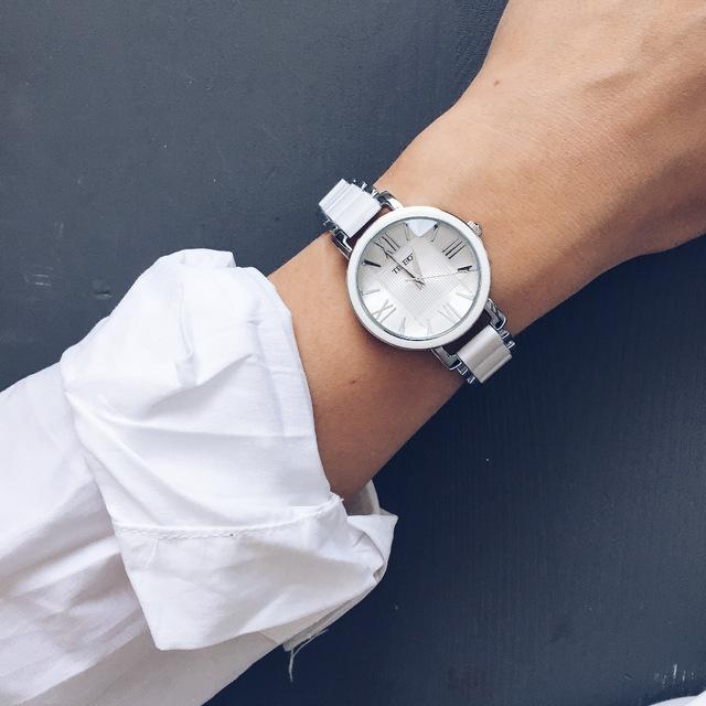 Кварцевые наручные часы с керамическими ремешком с Aliexpress