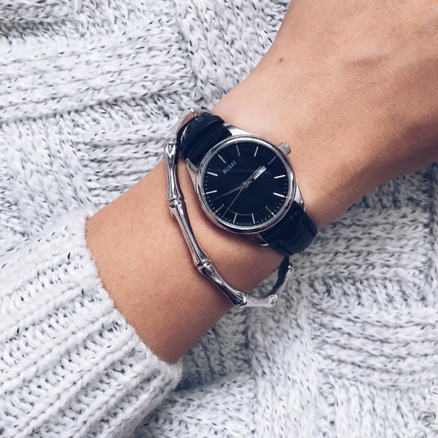 Наручные часы с кожаным ремешком от BUREI с Aliexpress