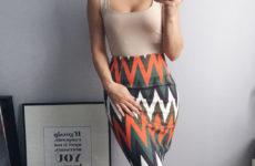 Оригинальная «замшевая» юбка длины миди с Aliexpress за 800 рублей