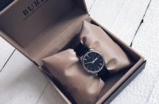 Наручные часы с кожаным ремешком от BUREI с Aliexpress за 1500 рублей