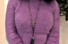 Пушистый укороченный свитер с Aliexpress за 1000 рублей