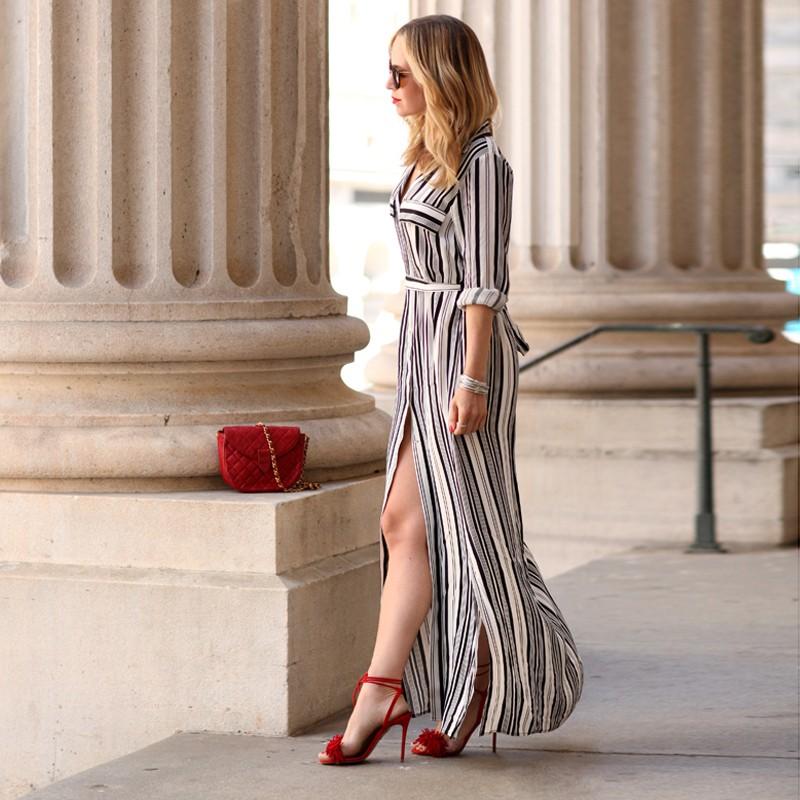"""Платье в стиле рубашки """"Белые полосы"""" ~ 745 руб"""