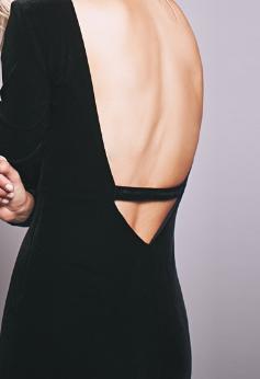 Бархатное платье с открытой спиной ~ за 1600 руб.