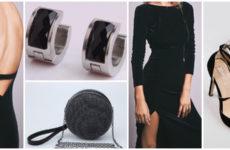 Модный лук: бархатное платье с открытой спиной
