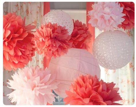 Подвесные цветы-помпоны ~ 70 руб