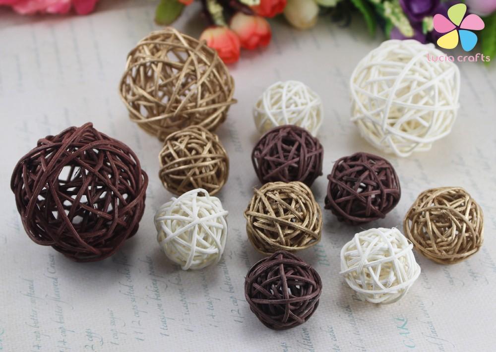 Декоративные плетеные шары из лозы ~ 120 руб