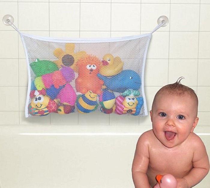 Органайзер для детских игрушек в ванной ~ 60 руб