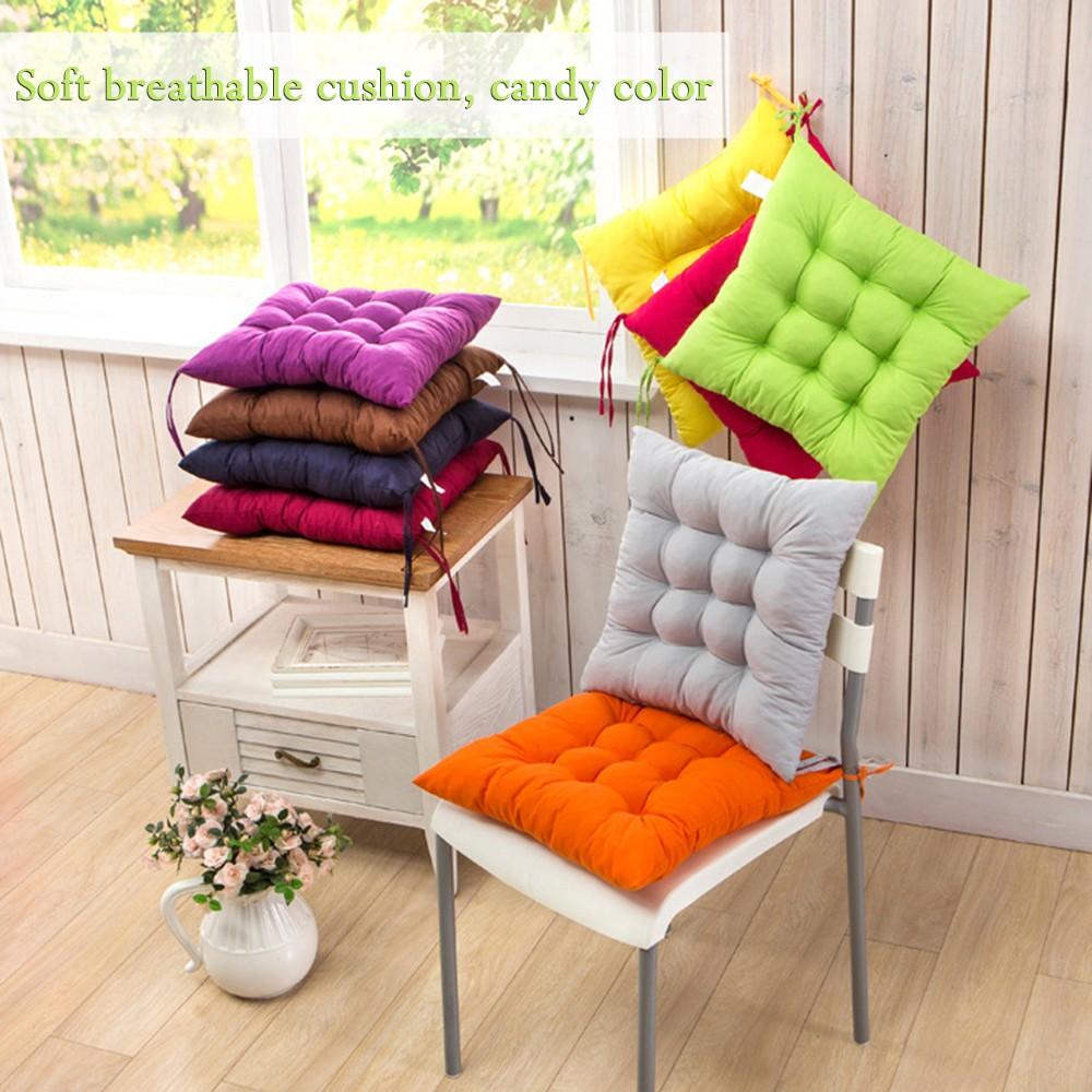 Хлопковые подушки с завязками для стульев ~ 300 руб