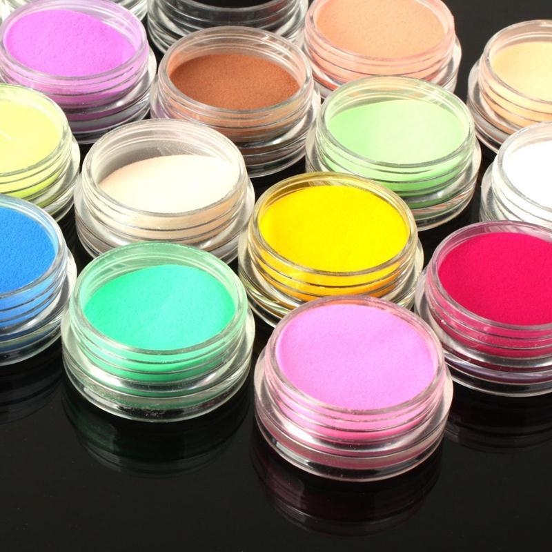 Набор разноцветной акриловой пудры ~ 150 руб