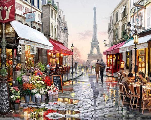 Картина «Парижская улица» ~ 400 руб