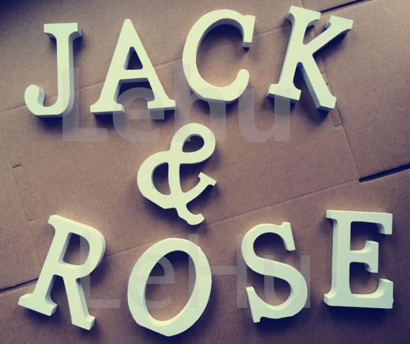 Деревянные декоративные буквы ~ 50 руб